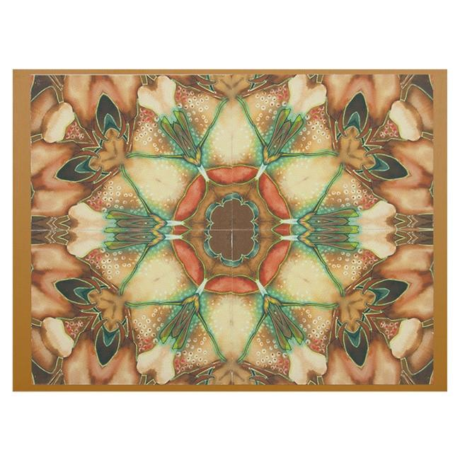 "100-145 Peach Kaleidoscope  (24"" x 18"")"