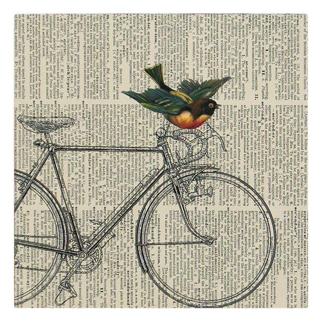"100-123 Bicycle Bird (8"" x 8"")"