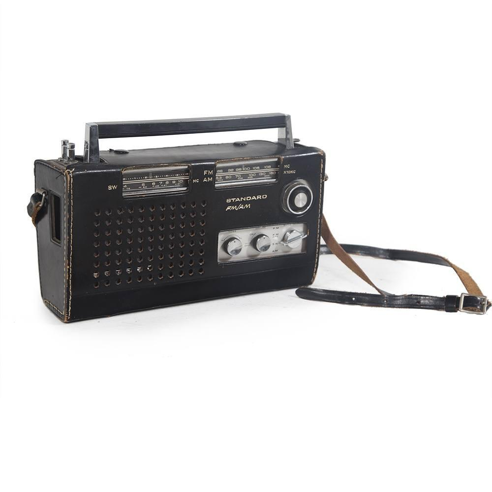 Black Standard Portable Radio