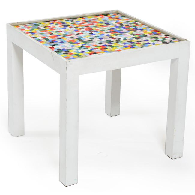 Multi-Color Tile Table