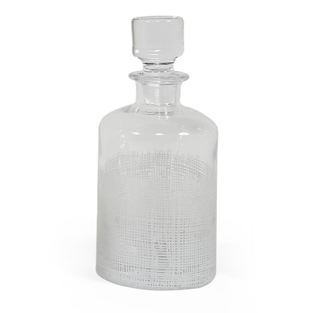 White Etched Glass Bottle