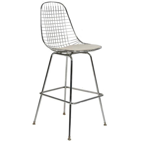 Chrome Wire Barstool on H Base