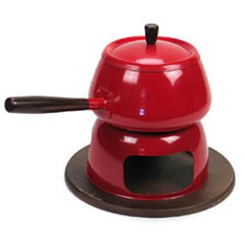 Fondue Pot - Red