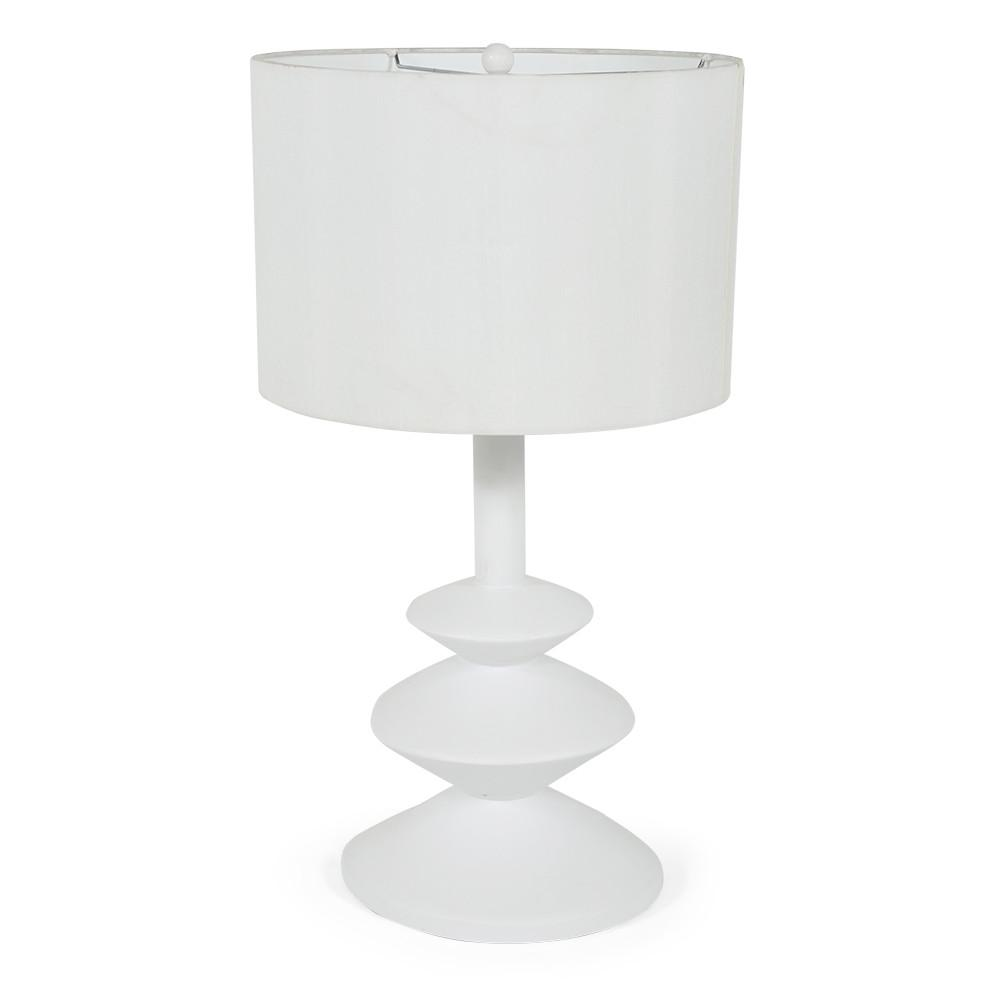 All White Table Lamp