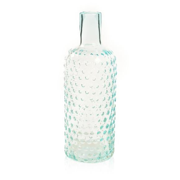 Blue Aqua BFA Glass Dot Bottle Vase