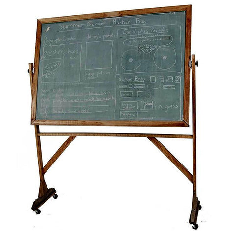 Antique Wood Chalkboard