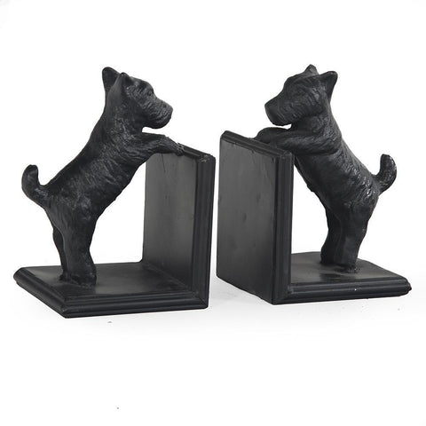 Black BFA Wood Scotty Bookends - Pair