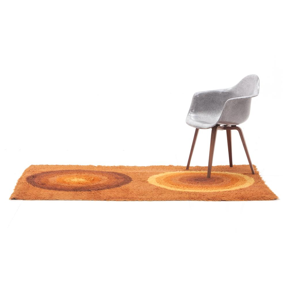 Brown Orange Circles Rug
