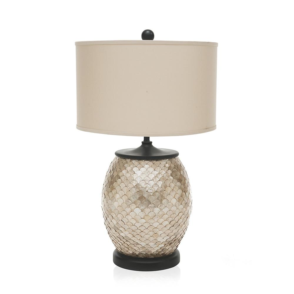 Silver Scale Pattern Lamp