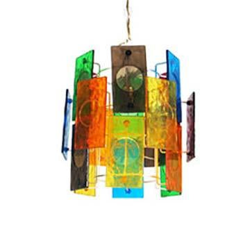 Multi Colored Rectangles Hanging Pendant