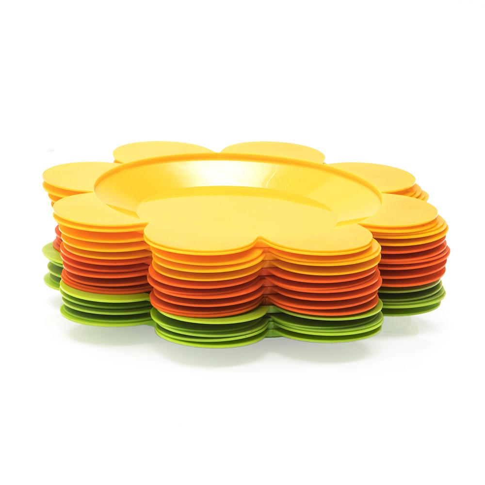 Yellow Flower Plates