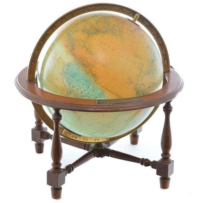 Brown Wooden Stand Globe