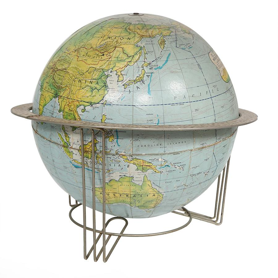 Blue Chrome Frame Globe