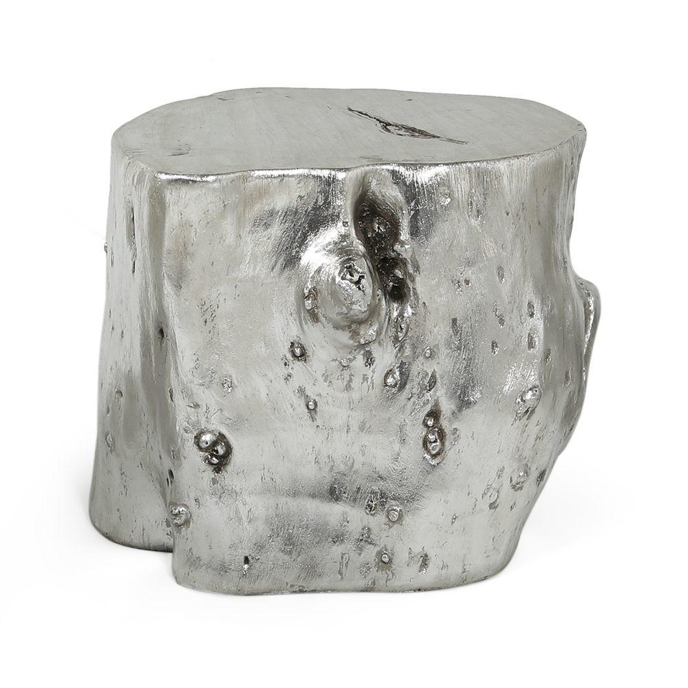 Silver Wood Stump - Medium