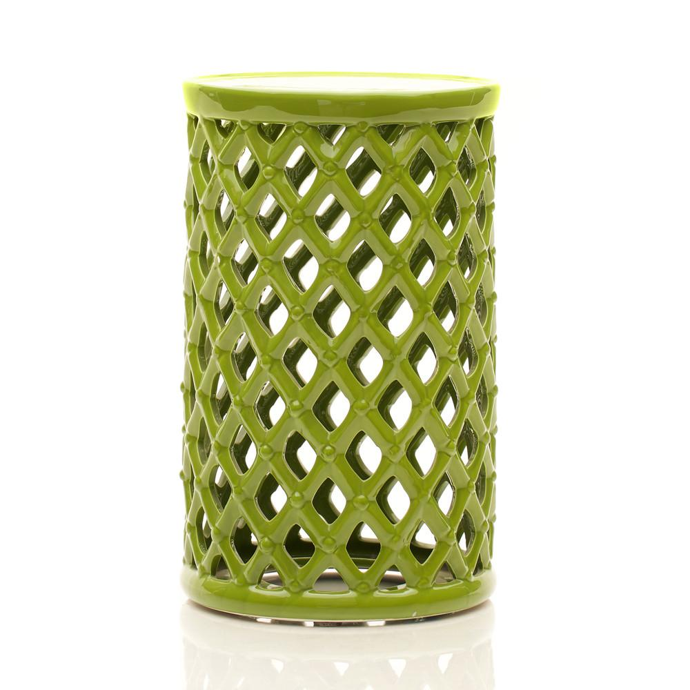 Ceramic Lattice Side Table