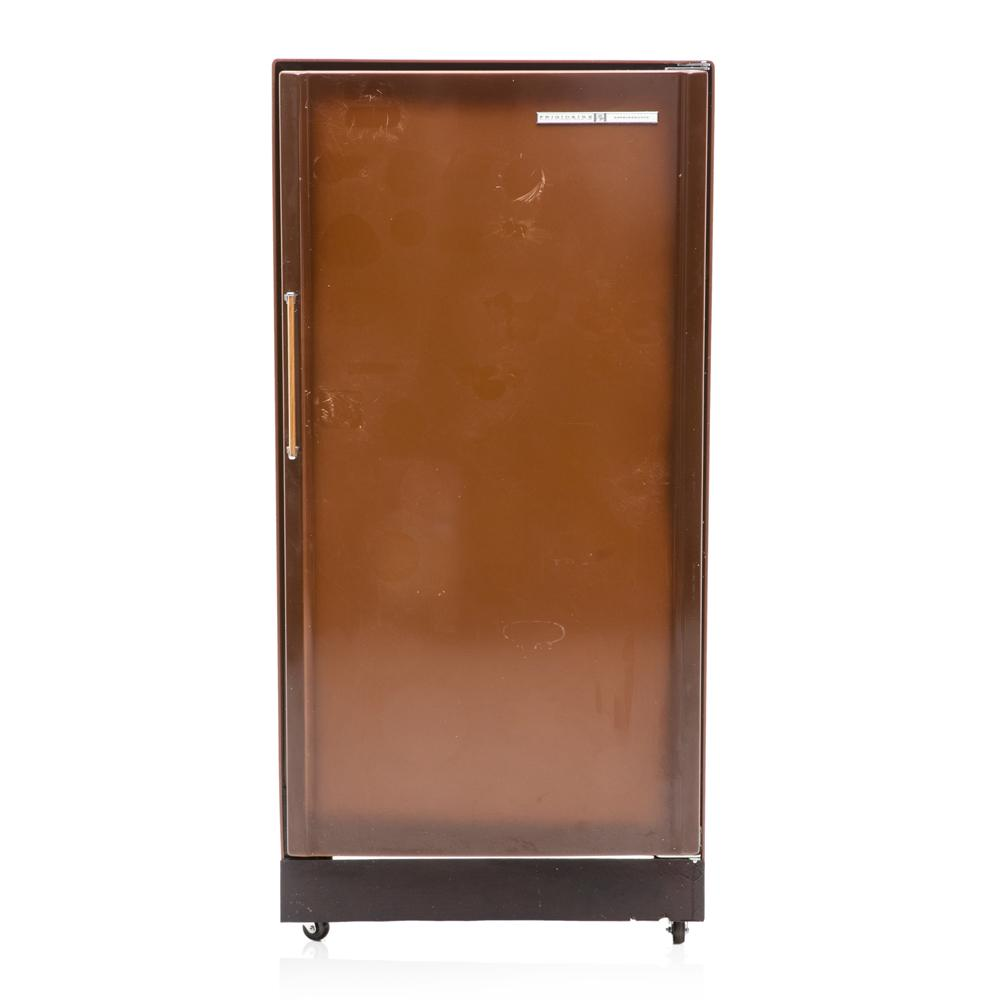 Brown 70's Open Back Fridge