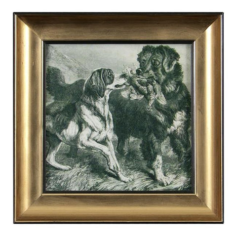 "BFA 100-192 Dog Square Plain Gold (7"" x 7"")"