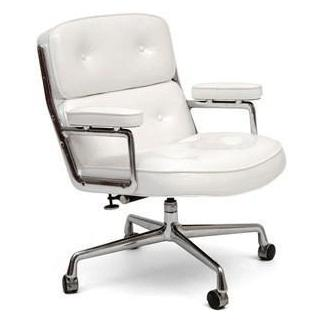 Time Life Lobby Chair - White Patent Leather