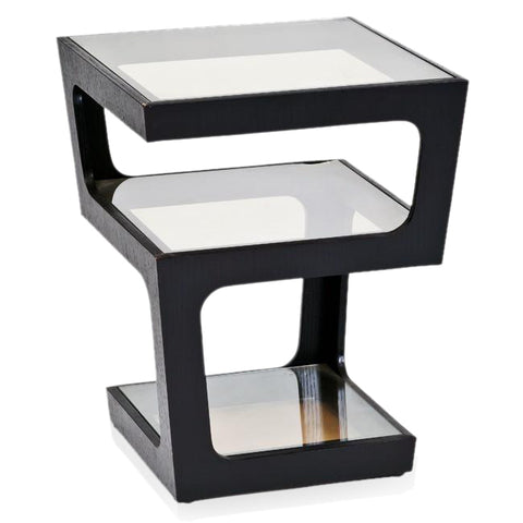 Black Three Tier Side Table
