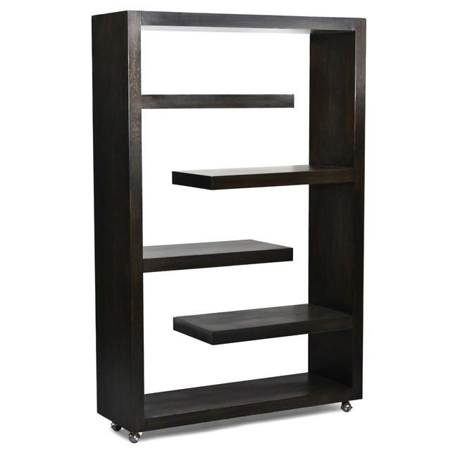 Black Wooden Book 5 Tier Shelf