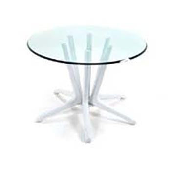 Six-Peg Dining Table with Glass Top