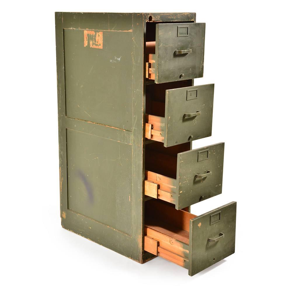 Military Green Filing Cabinet
