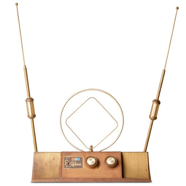 Bronze and Brass Turn Dial Antenna