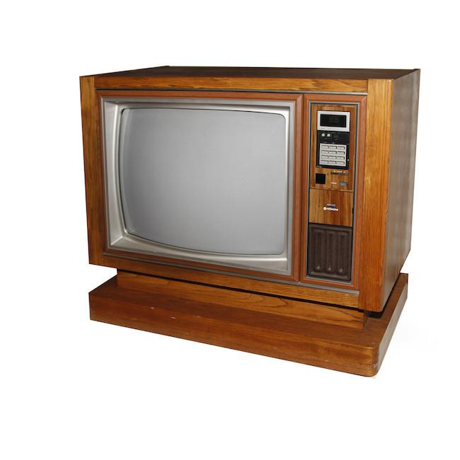 Wooden Hitachi Television