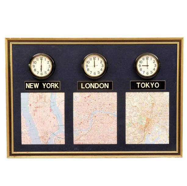 World Time Zones Wall Clocks & Maps