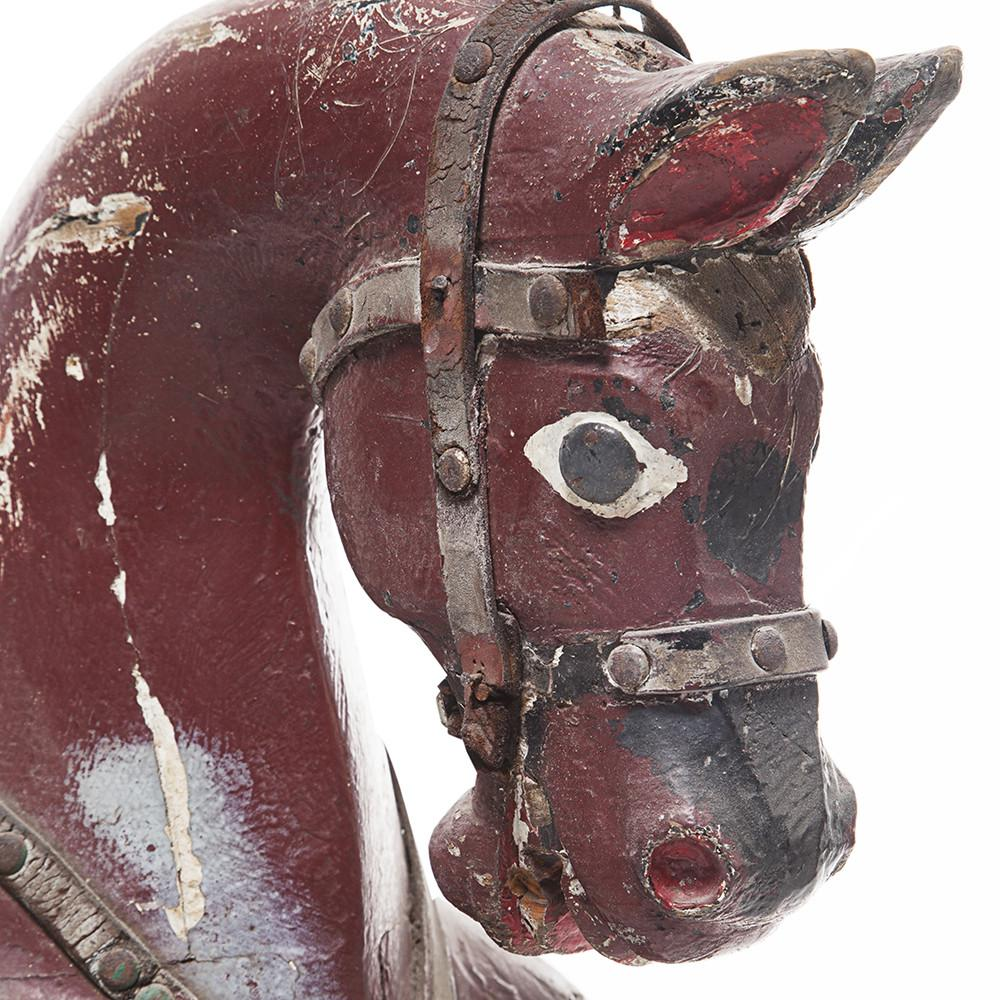 Antique Wooden Toy Horse