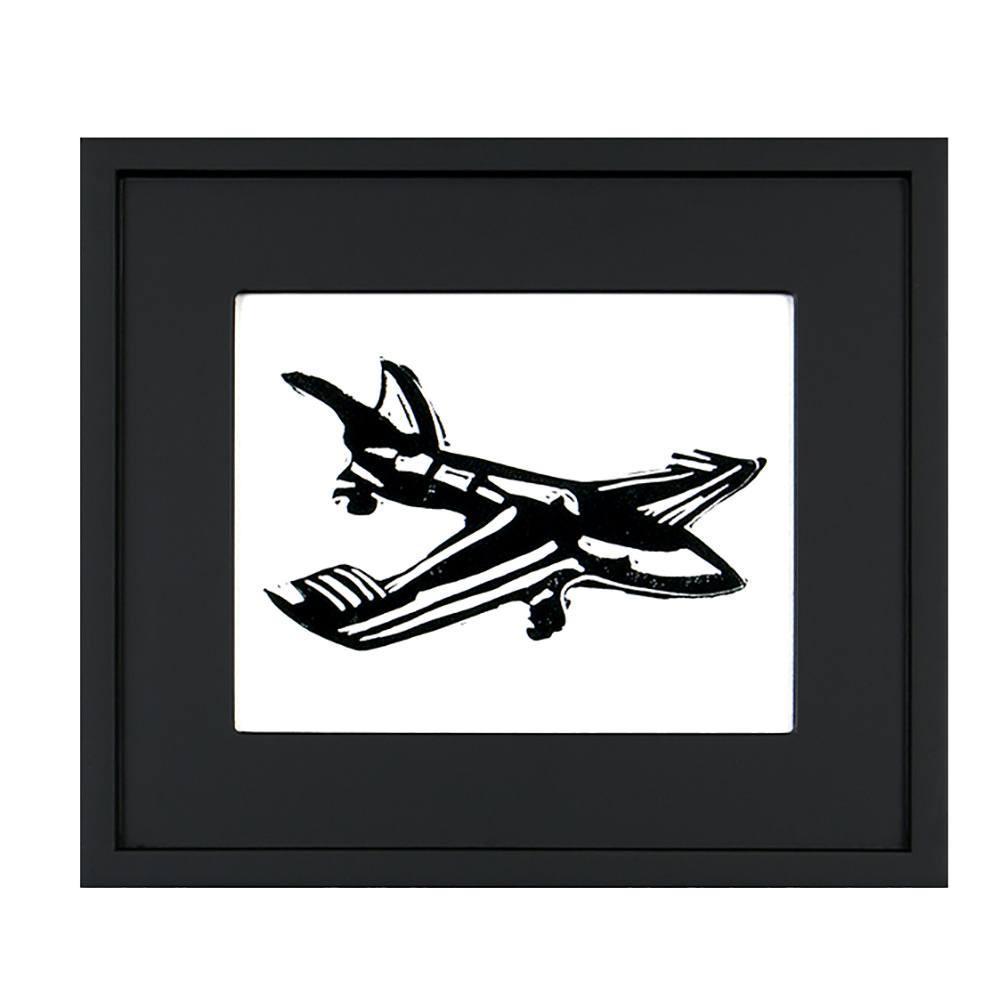 "100-214 Airplane Woodcut (14.5"" x 12.5"")"