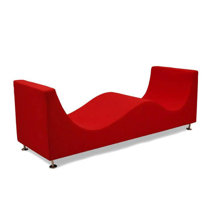 Red Wave Chaise