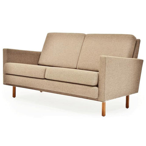 Case Study Love Seat - Brown