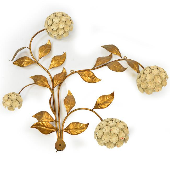 Brass Floral Wall Hanging