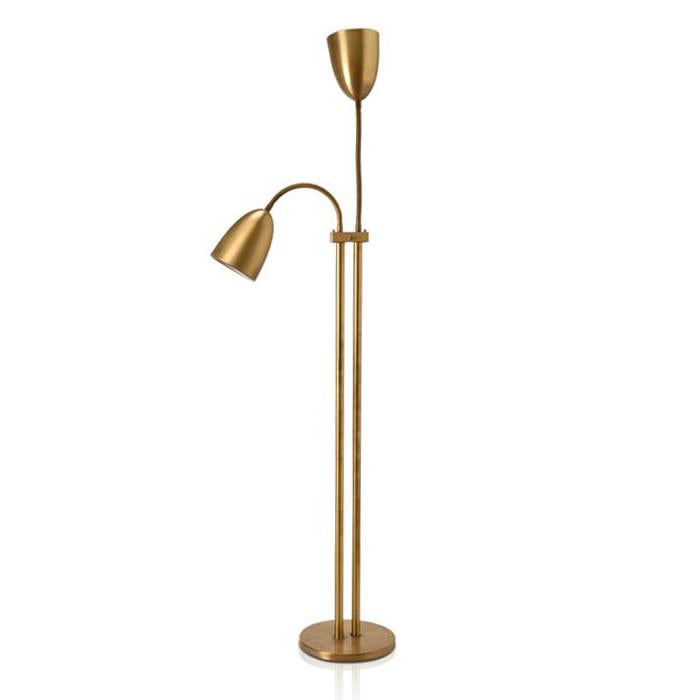 2 Light Brass Floor Lamp