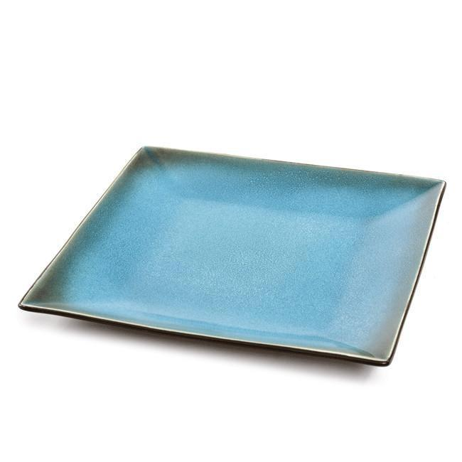 Blue BFA Ceramic Serving Plate