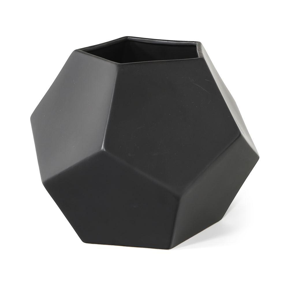 Black Pentagon Planter - Large