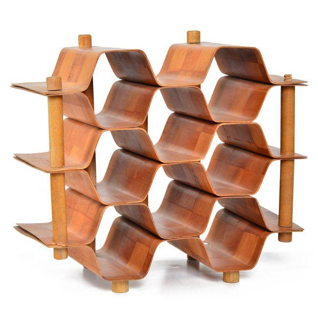 Bent Wood Bottle Rack