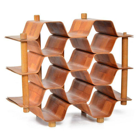 Bamboo Bottle Rack