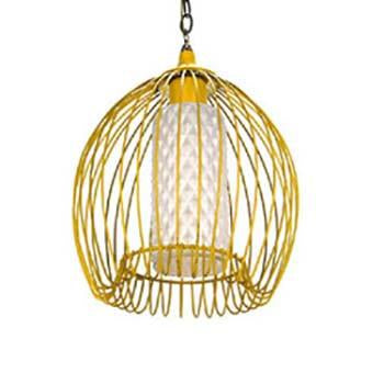 Metal Wire Flower Lamp - Yellow