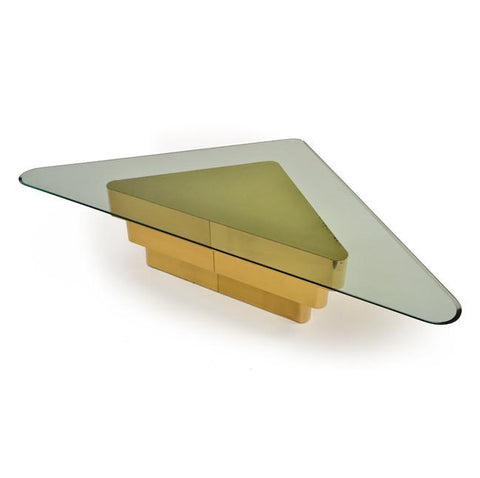 Brass Triangle Coffee Table