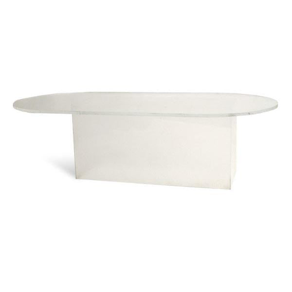 Oval Lucite Conference Table
