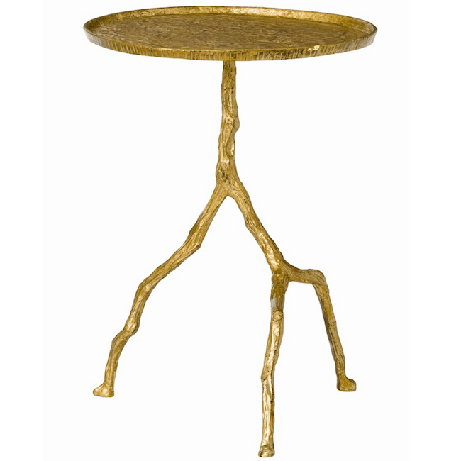 Delicieux Gold Tree Branch Side Table