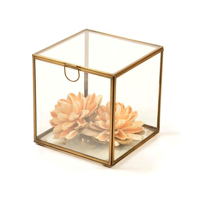 Brass Glass BFA Framed Box Large