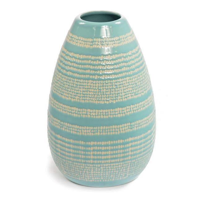 Blue Aqua BFA Ceramic Vase Dot