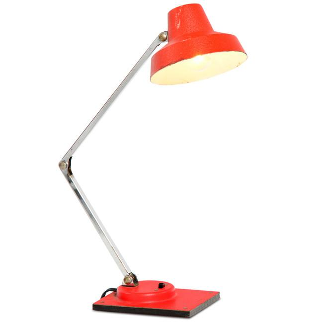 Tenson Red and Chrome Desk Lamp