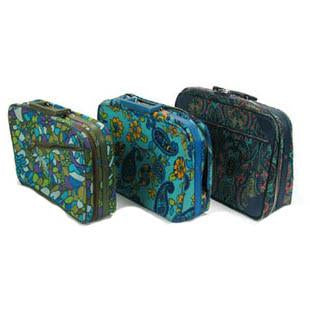 Blue Green Luggage