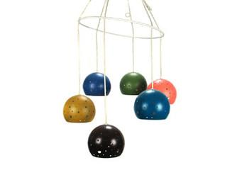 Multi Colored Hanging Globes