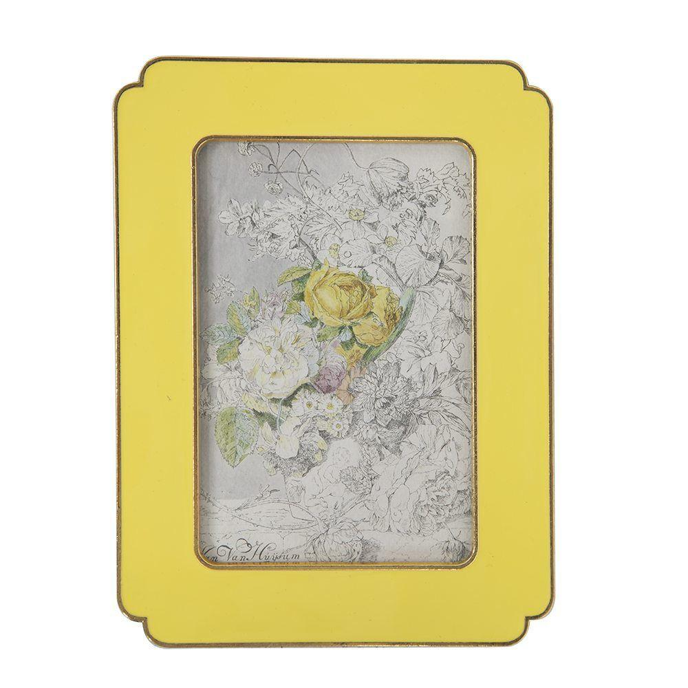 "BFA  100-905 Floral Yellow Medium (6"" x 7.5"")"