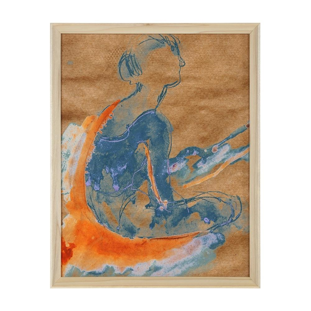 "100-820 Ballerina Blue Orange (12"" x 15"")"